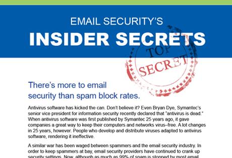 Email Security's Insider Secrets